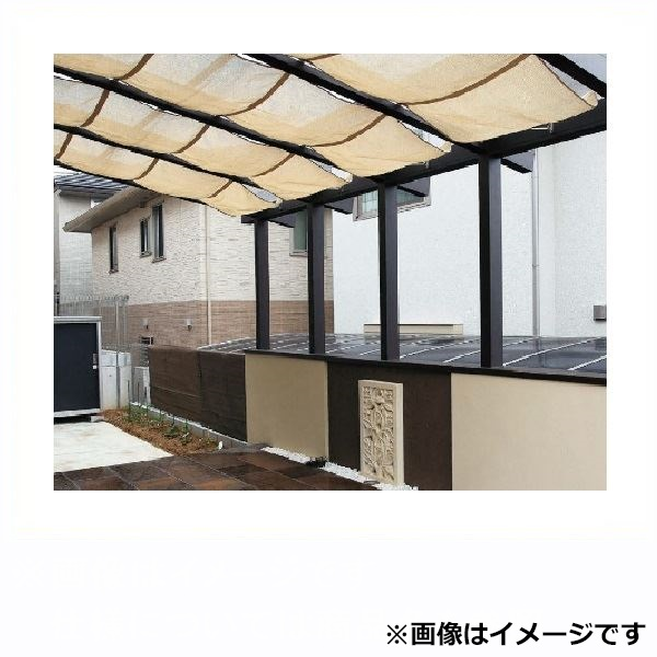 タカショー ポーチテラス カフェスタイル FIX腰壁 独立(壁寄せ)タイプ 2間×6尺 強化ガラス(クリア)