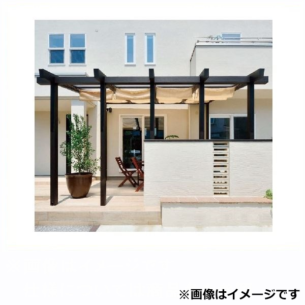 タカショー ポーチテラス カフェスタイル 腰壁 独立(壁寄せ)タイプ 1.5間×4尺 クリア