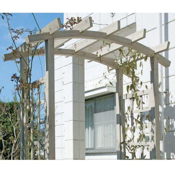 タカショー ガーデンパーゴラ ダブルパーゴラ2 GPA-CW7 クラシックブラウン