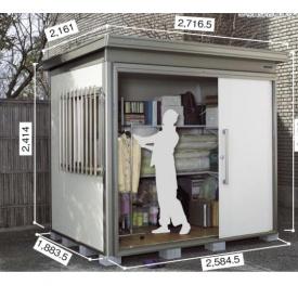 ヨドコウ DZB/ヨド蔵MD DZBU-2518HE 物置 豪雪型  『追加金額で工事も可能』 『断熱タイプの屋外用 中型・大型物置』 サンドグレージュ