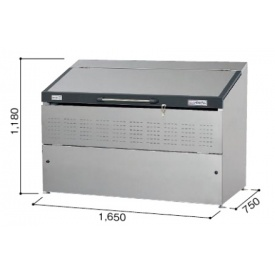 ヨドコウ ダストピット DPSA-1000 『ゴミ袋(45L)集積目安 22袋、世帯数目安 11世帯』 『ダストボックス ゴミステーション 屋外』