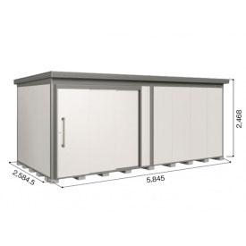 ヨドコウ DZB/ヨド蔵MD DZB-5825HW 物置 一般型 結露低減材付タイプ  『断熱タイプの屋外用 中型・大型物置』 サンドグレージュ