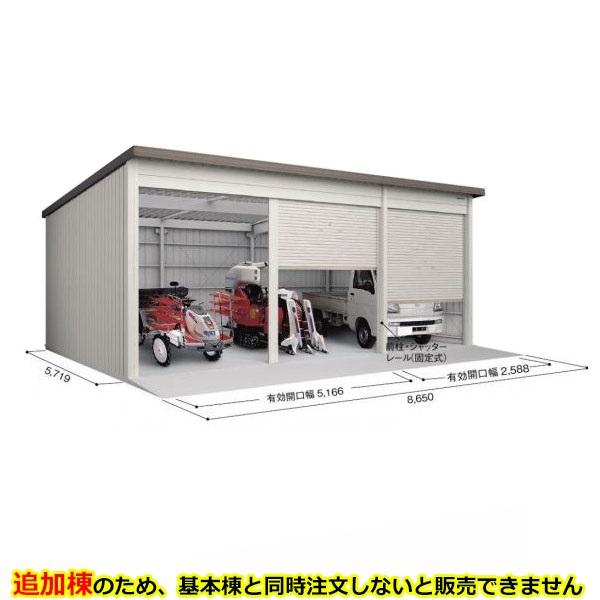 ヨド倉庫 SOB-8657FHAD 追加棟 *基本棟と同時に購入しないと、商品の販売が出来ません ブラウニー