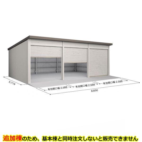 ヨド倉庫 SOBU-8657MD 追加棟 *基本棟と同時に購入しないと、商品の販売が出来ません ブラウニー