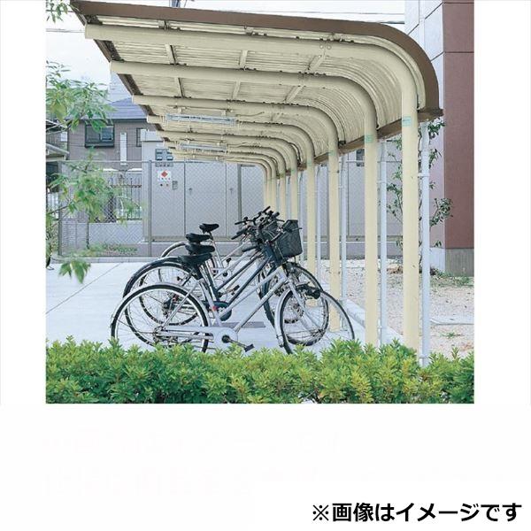 自転車置き場 ヨド物置 YOCF-240SA Hタイプ 追加棟(追加棟施工には基本棟の別途購入が必要です) 『公共用 サイクルポート 屋根』 ベージュ