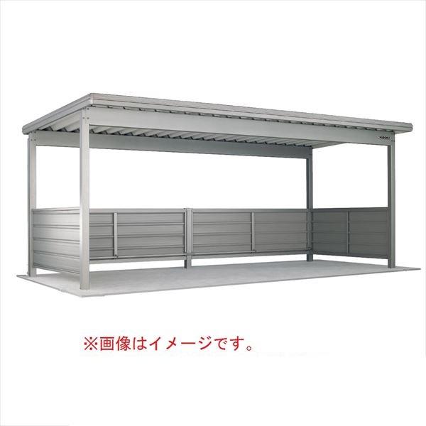 自転車置き場 ヨド物置 KWAU-4826 2段壁仕様 追加棟(追加棟施工には基本棟の別途購入が必要です) 『公共用 サイクルポート 屋根』 チタニウムシルバー