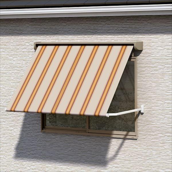 リクシル 彩風 ウィンドウタイプ 手動式 間口 1820×出幅 1000 レッド系 ポリエステル レッド系