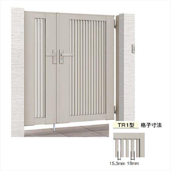 リクシル 開き門扉AB TR1型 04・08-10 親子開き 柱仕様