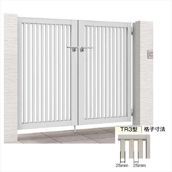 リクシル 開き門扉AB TR3型 07-10 両開き 柱仕様
