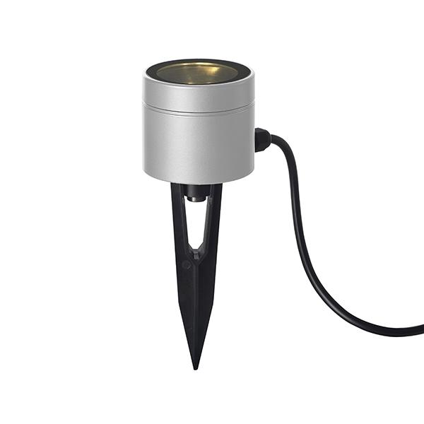 『欠品中 次回入荷7月下旬予定』タカショー グランドライト(ローボルト)11型 スタンドタイプ HBD-D18S #75440300 『ローボルトライト』 『エクステリア照明 ライト』 シルバー