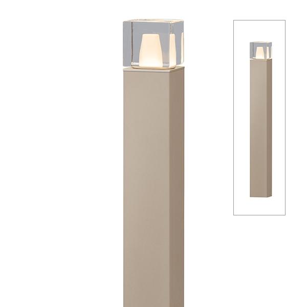 タカショー エバーアートポールライト 6型 ローボルト 拡散光 ガラスブロック HBC-D66G #75428100 『ローボルトライト』 『エクステリア照明 ライト』 グレイッシュゴールド