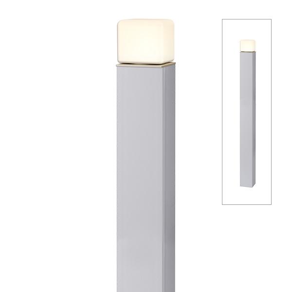 タカショー ポールライト(ローボルト) エバーアートポールライト 2型 HBC-D68S #75433500 『ローボルトライト』 『エクステリア照明 ライト』 シルバー