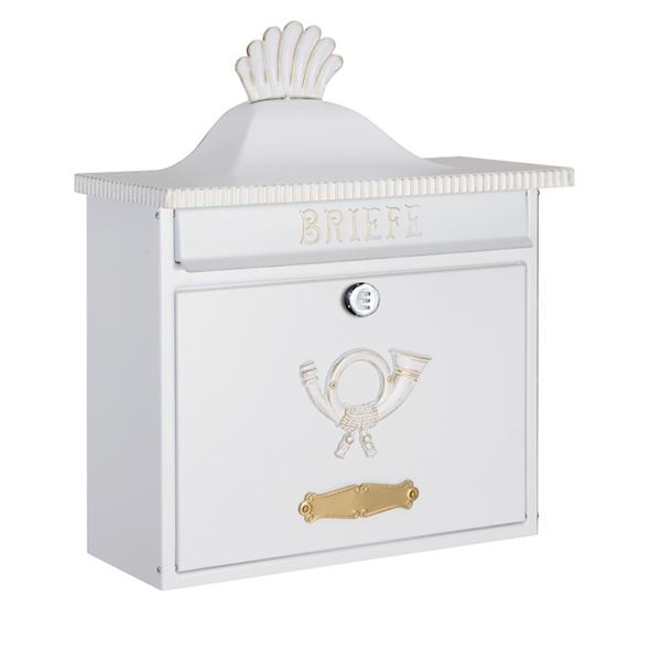 オンリーワン ハイビポスト クラシカルタイプ クラシカルポストA ダイヤル錠 MA1-64056008D 『郵便ポスト』 ホワイト/ゴールド