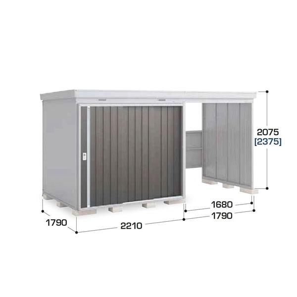 『配送は関東・東海限定』イナバ物置 NXN-K/ネクスタウィズ NXN-40S・32SK スタンダードタイプ 右側開放スペース 一般型 『追加金額で工事も可能』 『開放スペース併設物置』 プレミアムグレー