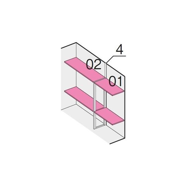 イナバ物置 NXN-K NXN-48H用 別売棚板Dセット 2段 ハイルーフ *単品購入価格