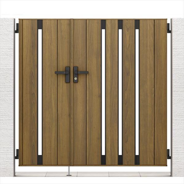 リクシル 開き門扉AA TS1型 柱仕様 ラッピング形材柱 04・08-14 親子開き