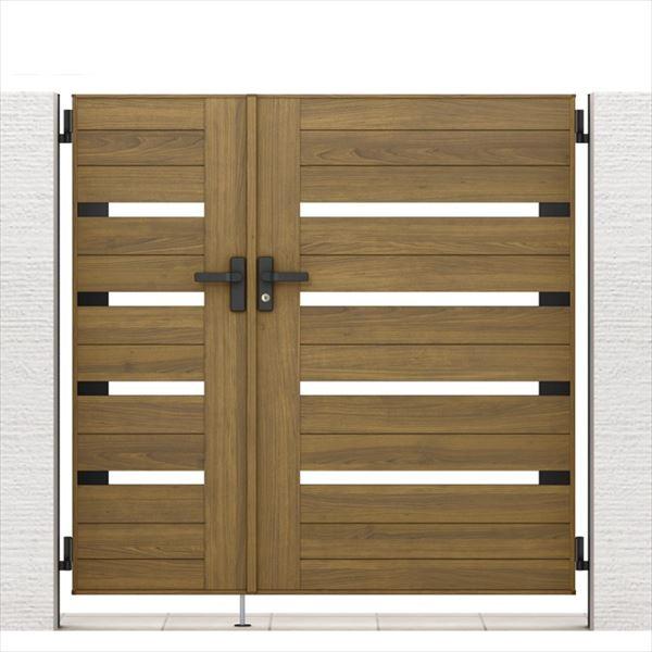 リクシル 開き門扉AA YS1型 柱仕様 ラッピング形材柱 05・09-14 親子開き