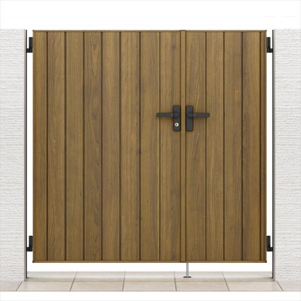 ラッピング形材柱 開き門扉AA 柱仕様 05・07-14 リクシル 親子開き TM1型