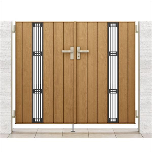 リクシル 開き門扉AA TS2型 柱仕様 アルミ形材柱 09-14 両開き