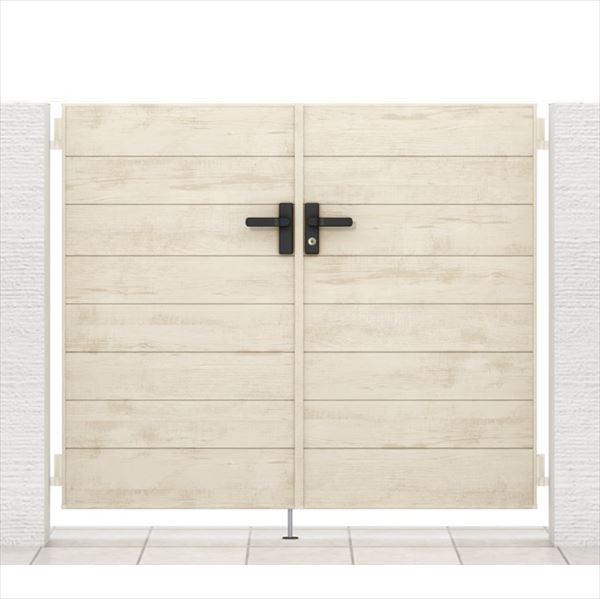 リクシル 開き門扉AA YM1型 柱仕様 アルミ形材柱 08-14 両開き