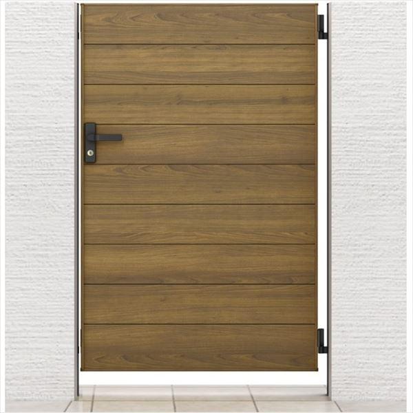 リクシル 開き門扉AA YM1型 柱仕様 アルミ形材柱 07-12 片開き