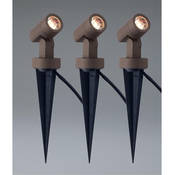 ユニソン エコルトスポットライト EB 11008 052 12V用 3個セット『エクステリア照明 ローボルトライト』 LED色:電球色