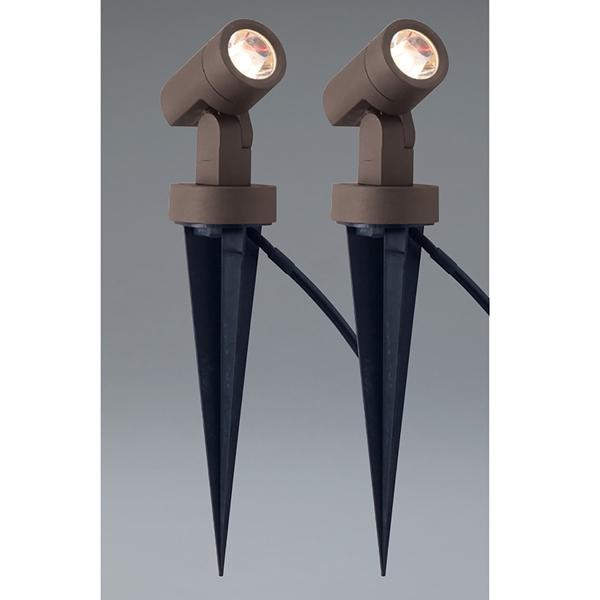 ユニソン エコルトスポットライト EB 11010 052 12V用 2個セット『エクステリア照明 ローボルトライト』 LED色:電球色