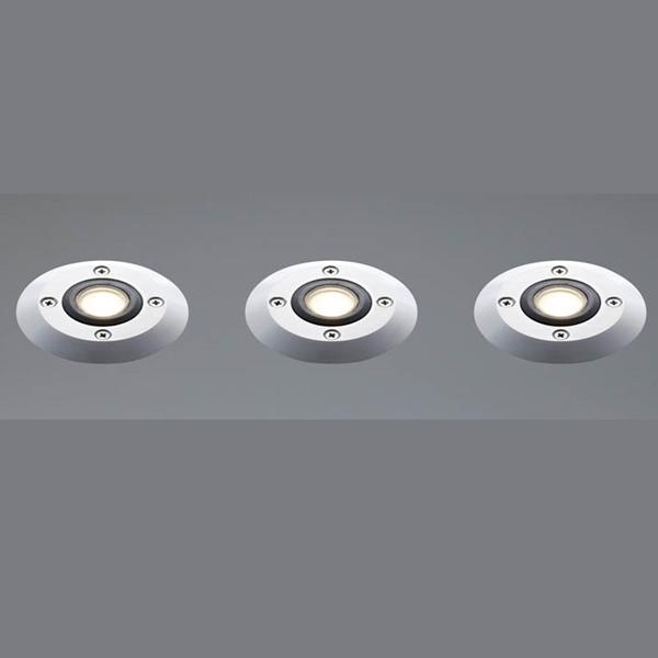 ユニソン エコルトグランドライト 3個セット 12V照明 EB 11025 062 『エクステリア照明 ローボルトライト』