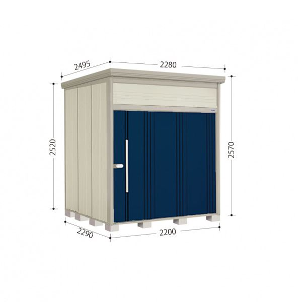 タクボ物置 JN/トールマン JN-2222 一般型 標準屋根 『追加金額で工事も可能』 『屋外用中型・大型物置』 ディープブルー