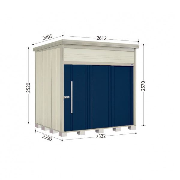 タクボ物置 JN/トールマン JN-2522 一般型 標準屋根 『追加金額で工事も可能』 『屋外用中型・大型物置』 ディープブルー
