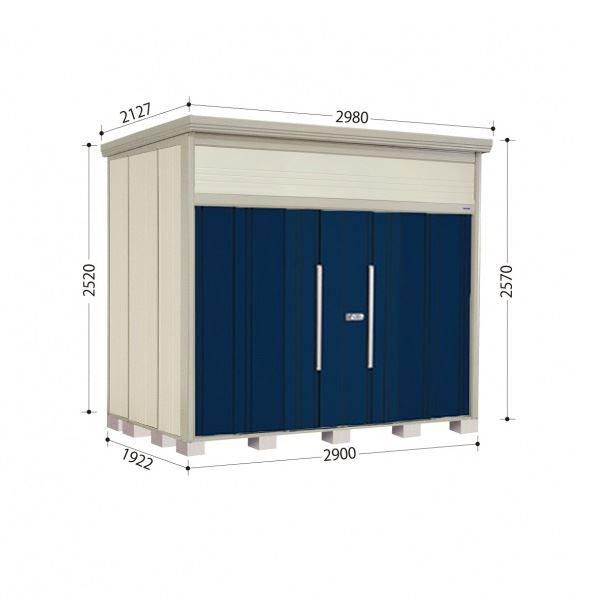 タクボ物置 JN/トールマン JN-S2919 多雪型 標準屋根 『追加金額で工事も可能』 『屋外用中型・大型物置』 ディープブルー