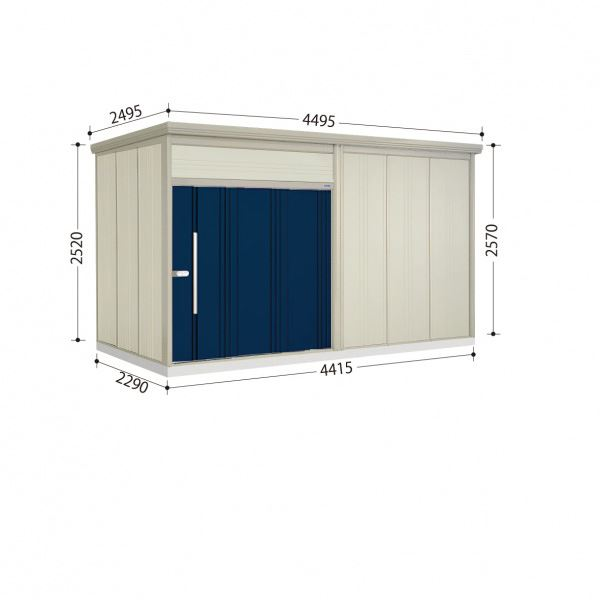 タクボ物置 JN/トールマン JN-S4422 多雪型 標準屋根  『屋外用中型・大型物置』 ディープブルー