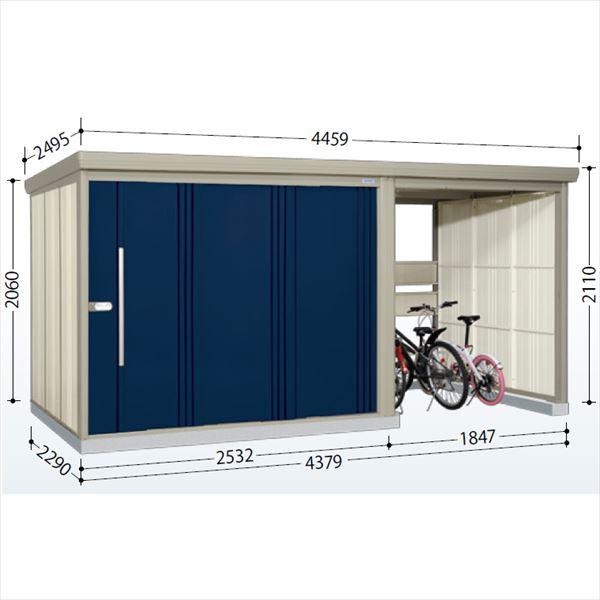 タクボ物置 TP/ストックマンプラスアルファ TP-Z43R22 一般型 結露減少屋根  『駐輪スペース付 屋外用 物置 自転車収納 におすすめ』 ディープブルー