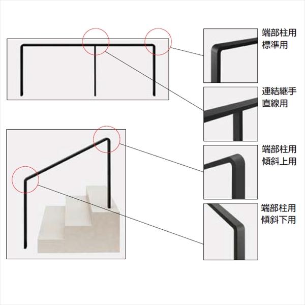 リクシル デザイナーズレール 継手セット 端部柱用  傾斜上用 8TYQ10□□