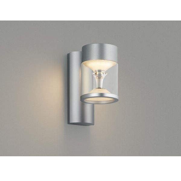 コイズミ ツインルックス ポーチ灯 AU45486L モダンタイプ 『ブラケットライト エクステリア照明 ライト』 シルバーメタリック