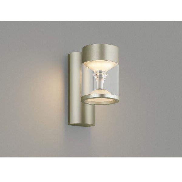 コイズミ ツインルックス ポーチ灯 AU45487L モダンタイプ 『ブラケットライト エクステリア照明 ライト』 ウォームシルバー