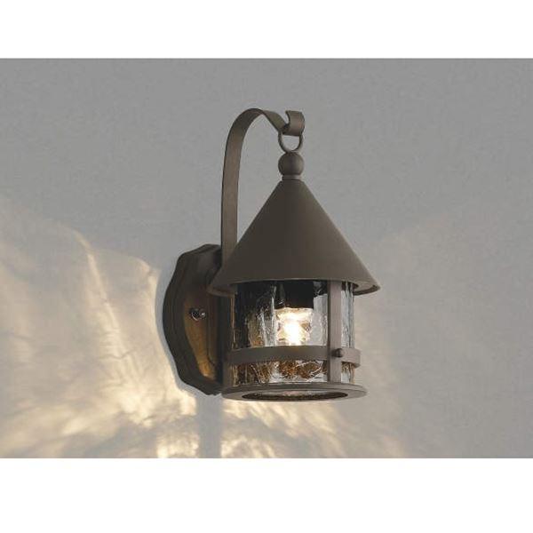 コイズミ ポーチ灯 AU42410L 『ブラケットライト エクステリア照明 ライト』 茶色