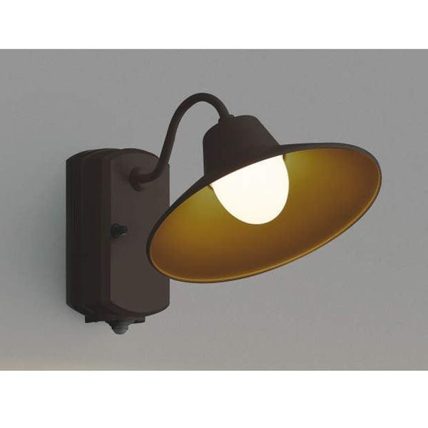 コイズミ ポーチ灯 マルチタイプ AU42251L 人感センサ付 『ブラケットライト エクステリア照明 ライト』 茶色