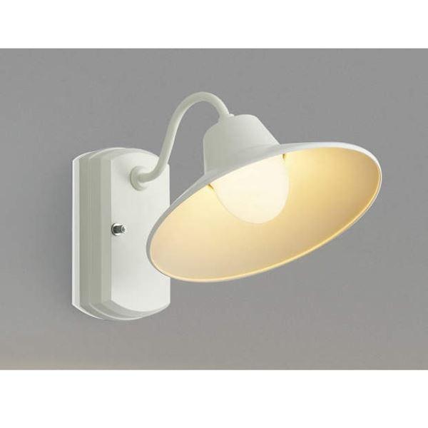 コイズミ ポーチ灯 AU42253L 『ブラケットライト エクステリア照明 ライト』 オフホワイト