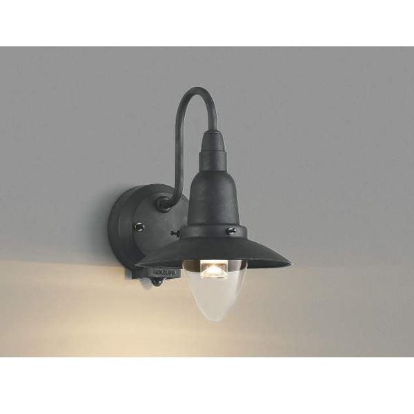コイズミ ポーチ灯 マルチタイプ AU42214L 人感センサ付 『ブラケットライト エクステリア照明 ライト』 ブラック