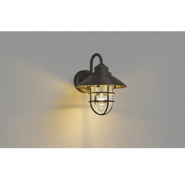 コイズミ ポーチ灯 AU38413L 『ブラケットライト エクステリア照明 ライト』 茶色