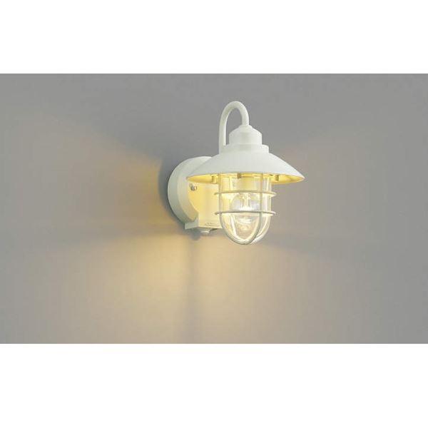 コイズミ ポーチ灯 タイマー付ON/OFFタイプ AU38411L 人感センサ付 『ブラケットライト エクステリア照明 ライト』 オフホワイト