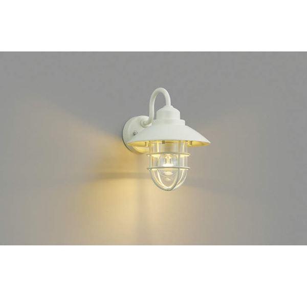 コイズミ ポーチ灯 AU38414L 『ブラケットライト エクステリア照明 ライト』 オフホワイト