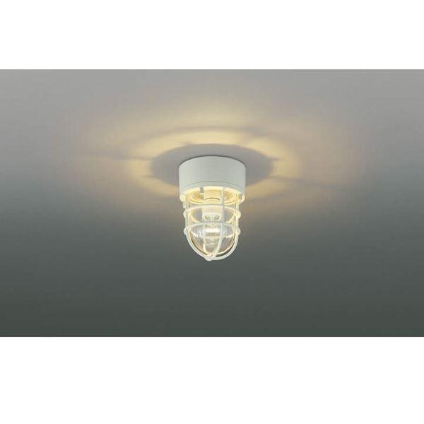 コイズミ ポーチ灯 直付・壁付・門柱取付 AU38417L 『ブラケットライト エクステリア照明 ライト』 オフホワイト