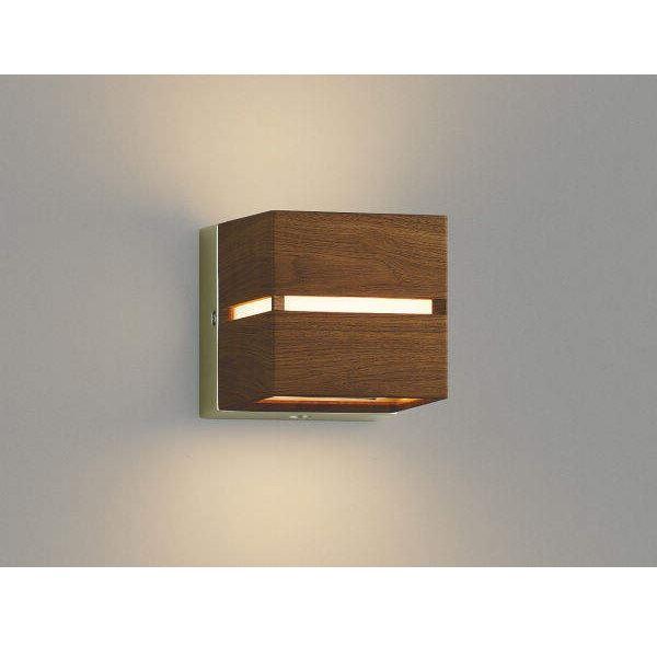 コイズミ ポーチ灯 壁付・門柱取付 上下面照射 AU45203L 自動点滅器付 『ブラケットライト エクステリア照明 ライト』 ウォームブラウン