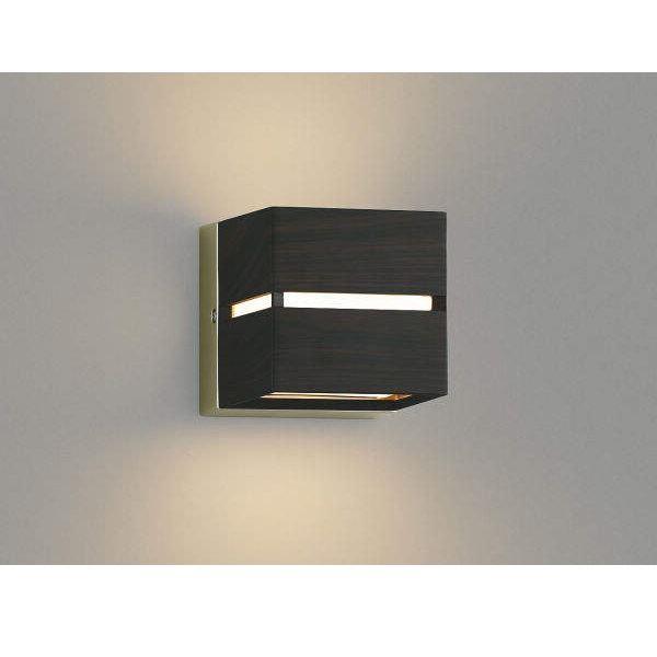 コイズミ ポーチ灯 壁付・門柱取付 上下面照射 AU45206L 『ブラケットライト エクステリア照明 ライト』 シックブラウン