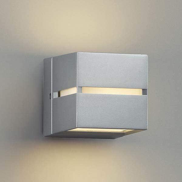 コイズミ ポーチ灯 壁付・門柱取付 上下面照射 AU35033L 『ブラケットライト エクステリア照明 ライト』 シルバーメタリック
