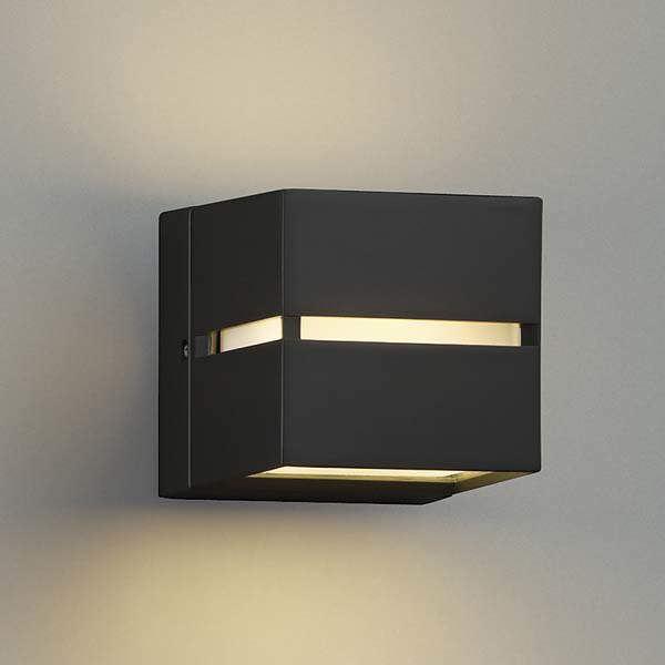コイズミ ポーチ灯 壁付・門柱取付 上下面照射 AU35035L 『ブラケットライト エクステリア照明 ライト』 黒色
