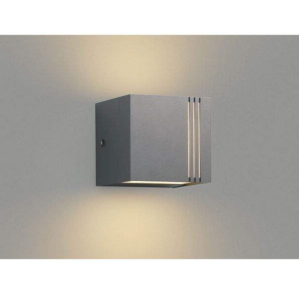 コイズミ ポーチ灯 上下面照射 AU45804L 『ブラケットライト エクステリア照明 ライト』 ダークグレーメタリック