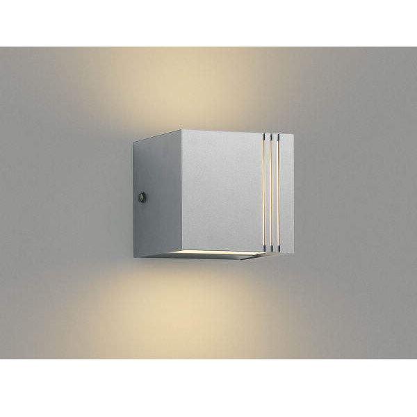 コイズミ ポーチ灯 上下面照射 AU45805L 『ブラケットライト エクステリア照明 ライト』 シルバーメタリック